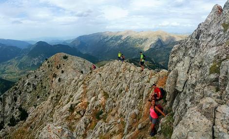 hiking Pedraforca