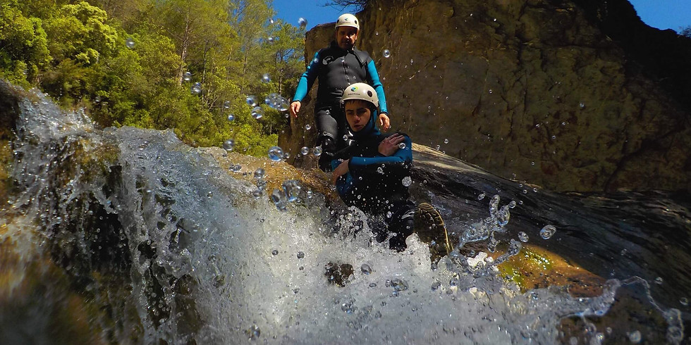 Trekking acuático - canyoning for beginners - Gorgues d'Albanyà