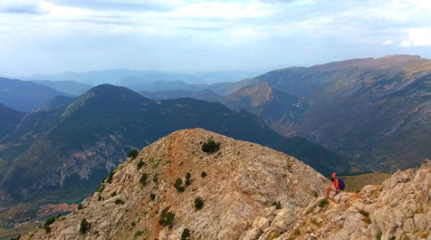 Reaching the top of Pedraforca