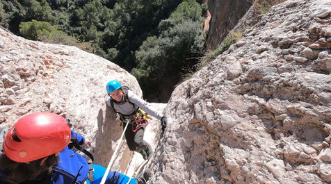 Canyoning at Montserrat abseiling canal