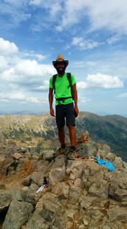 Moshe en lo alto del Pedraforca