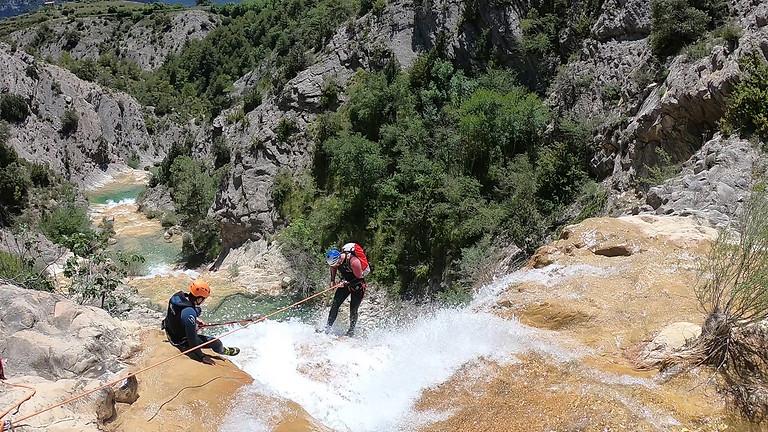 Canyoning  Font de la  Bordonera