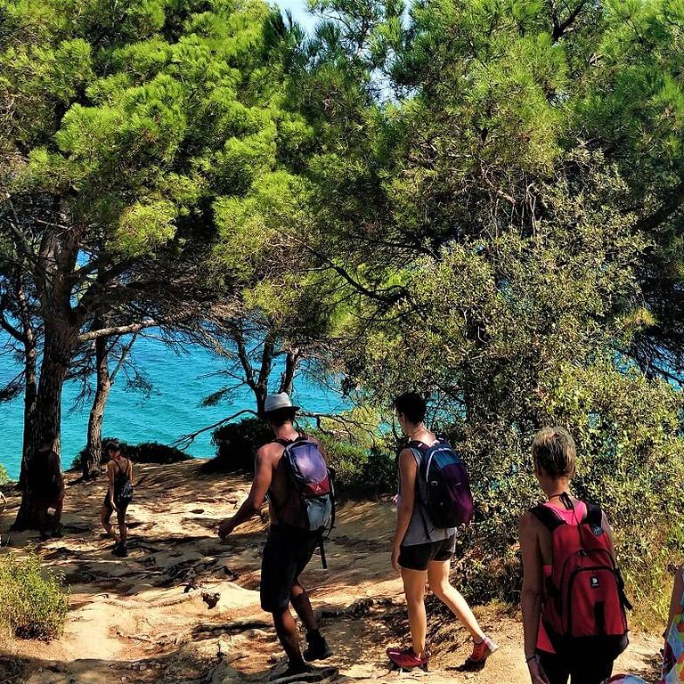 Senderimso y playa - Hike and beach time :  camino de ronda Platja d'Aro