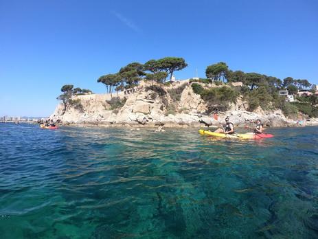 Kayaking at platja d'aro