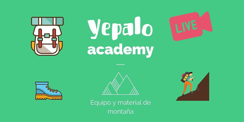 YEPALO ACADEMY - videoconferencia sobre el material de montaña