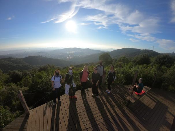 Sunrise hike Turo magarola Collserola