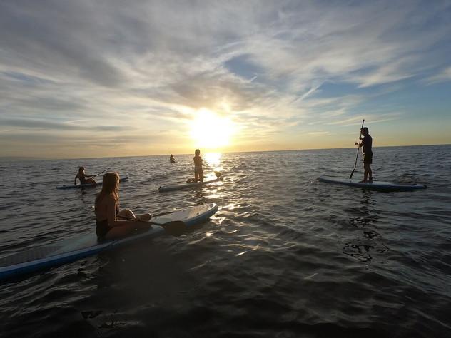 Sunrise paddle surf barcelona
