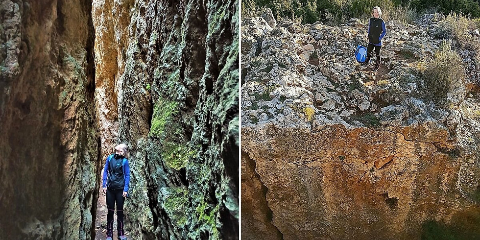 The amazing Escletxes del Papiol and the waterfalls of the Collersola. Hiking.