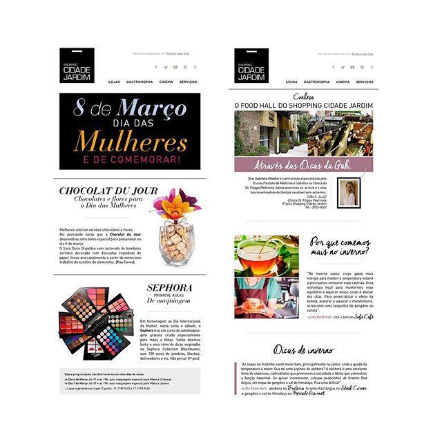 Newsletters Shopping Cidade Jardim