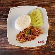 Fried Garlic Pork with Rice
