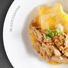 Fried Garlic Pork and Creamy Omelet with Rice