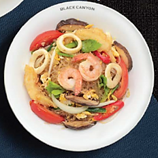 Stir-Fried Glass Noodles with Seafood