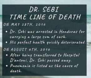 Dr. Sebi Timeline Of Death