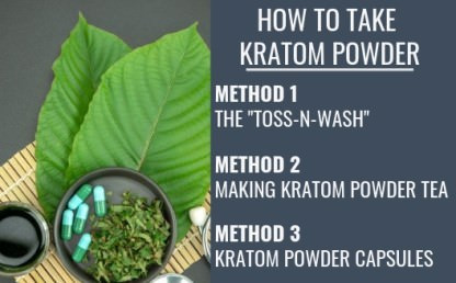 How To Take Kratom Powder Infograph