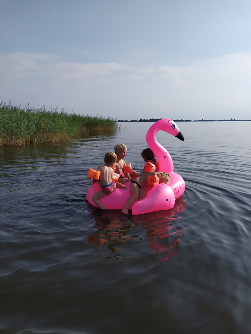 spelen in het water