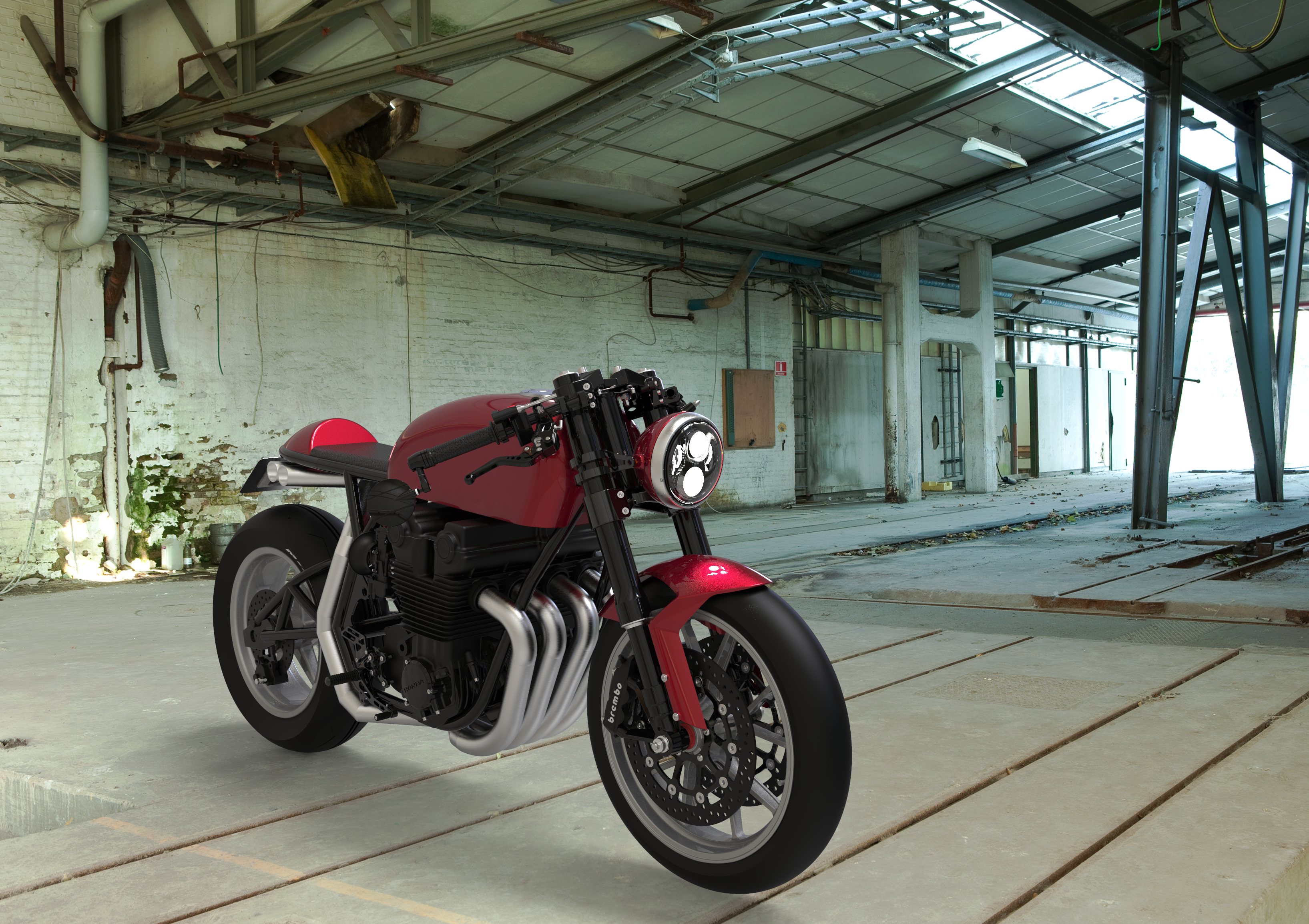 Honda CB750 Cafe Racer, front TQ view