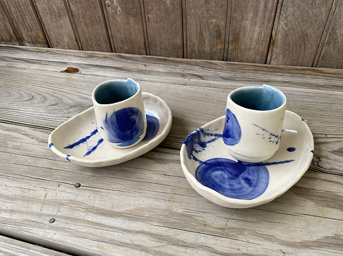 Blue Demitasse Set (4 pc)