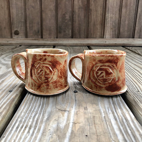 Demitasse Cups w/ Handles (light shino)