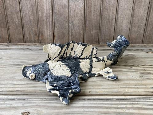 Large Black Koi — Ready to hang