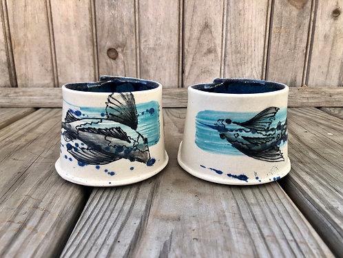 Swimming Koi Small Mug Pair (2 pc)