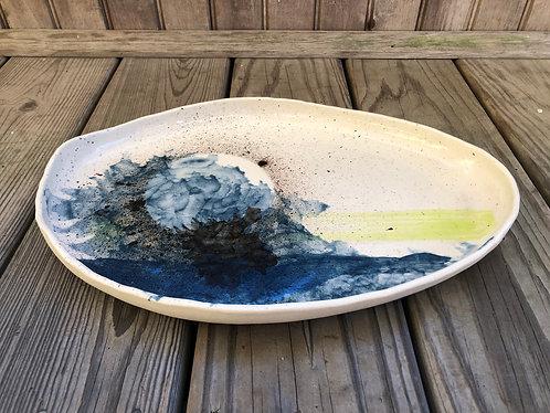 Chartreuse Stripe Platter