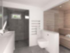 Villa ombygning bolig interiør badeværelse