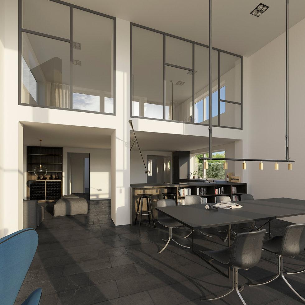 Villa ombygning interiør inventar risskov