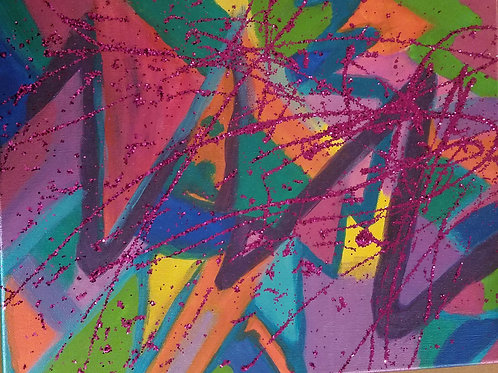 11x14 Rainbow zig zag