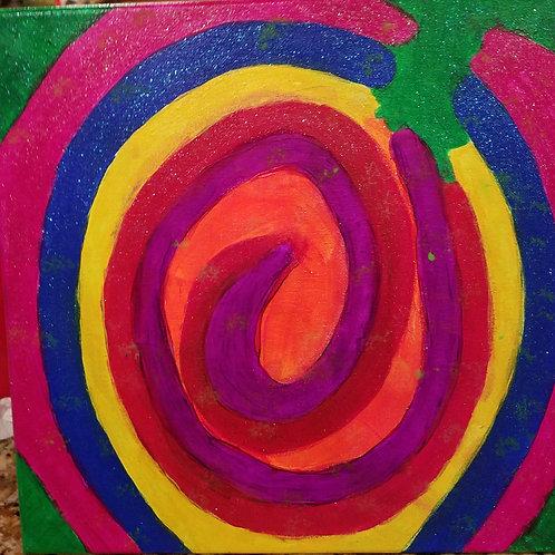 glitter swirly rainbow
