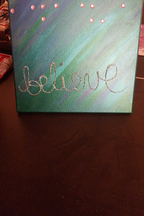 12 x 12 belive in braille