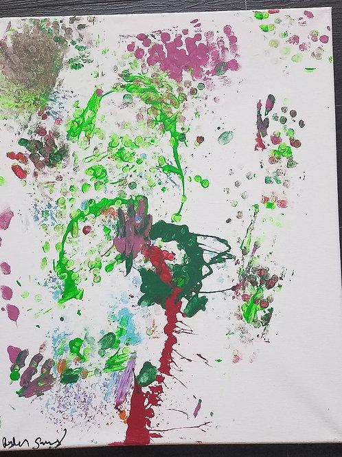 """Fingerprint Flower (16"""" x 20"""")"""