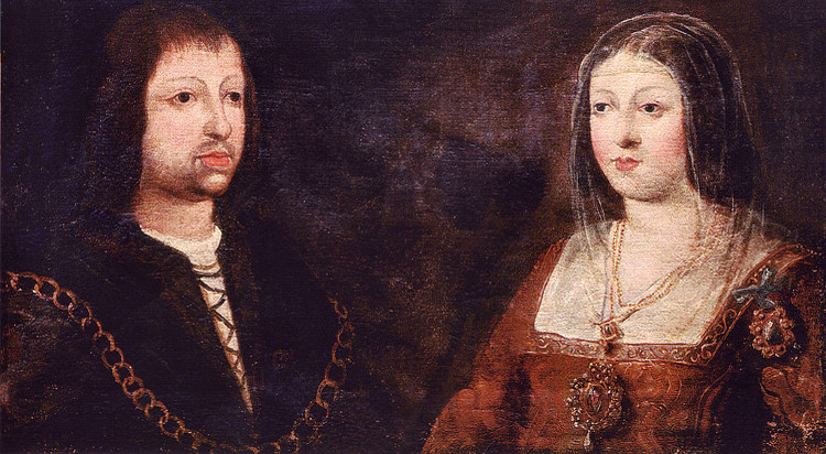 Agustinas de Madrigal. Wedding portrait of King Ferdinand of Aragon and Queen Isabella of Castile, 1469. Фото: © Wikimedia Commons