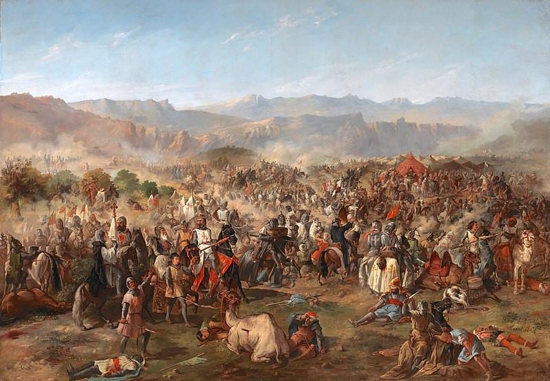 Francisco de Paula Van Halen. La batalla de las Navas de Tolosa, 1864. Фото: © Wikimedia Commons