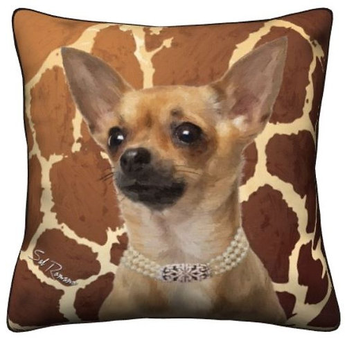 Brown Chihuahua Dog Pillow