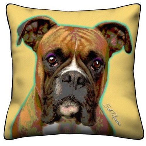 Gold Boxer Pillow