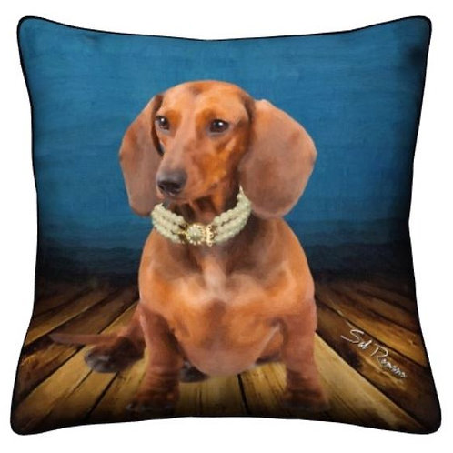 Tan Doxie Dog Pillow