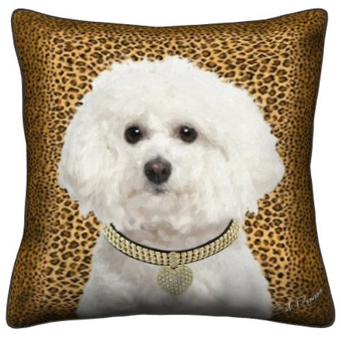 Bichon Dog Pillow