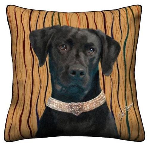 Black Labrador Pillow