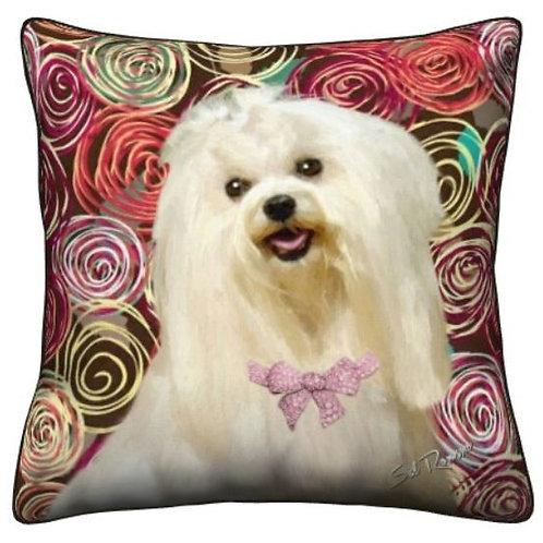 Maltese Dog Pillow