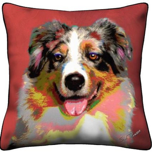 Red Aussie Dog Pillow