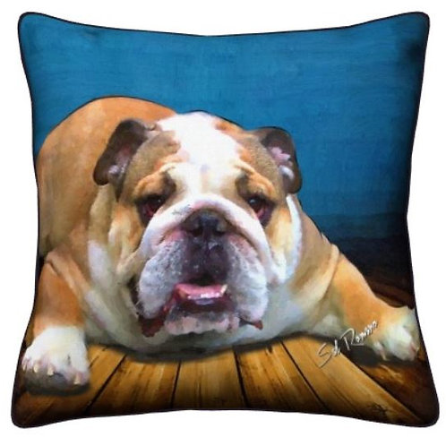 Bulldog Dog Pillow