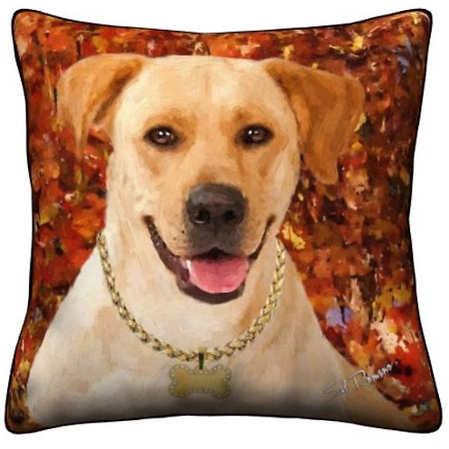 Yellow Lab Dog Pillow