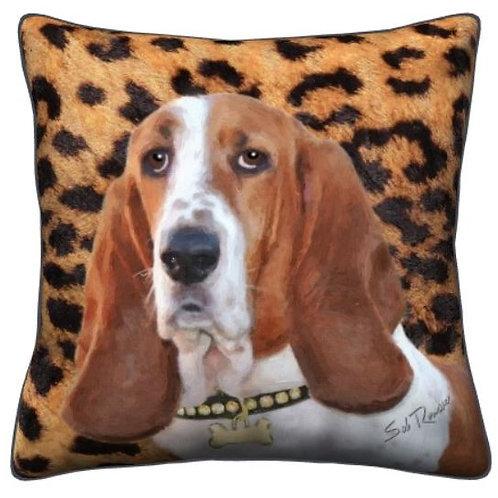 Basset Hound Dog Pillow