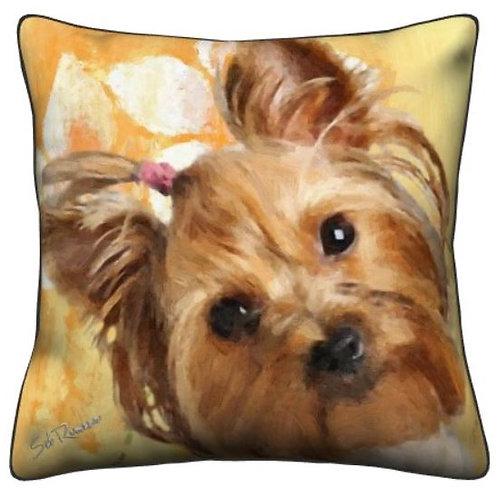 Silky Yorkie Dog Pillow