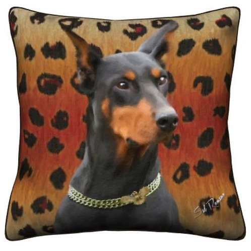 Doberman Dog Pillow