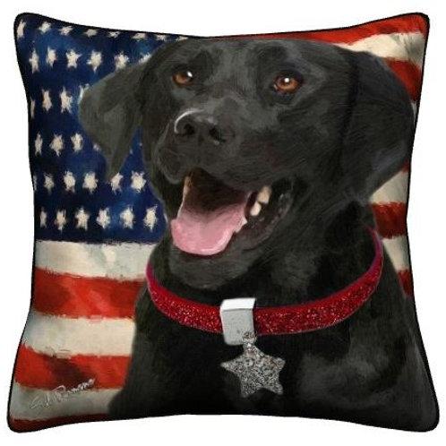 Black Lab Dog Pillow
