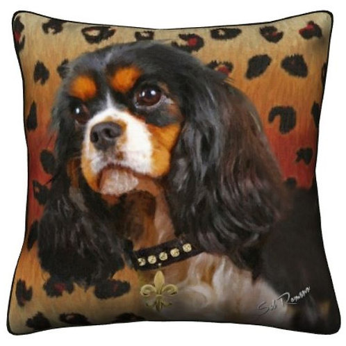 Tri-Colored King Cavalier Dog Pillow