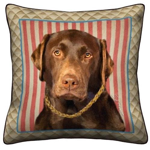 Chocolate Lab Dog Pillow