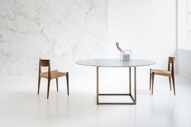 JEWEL TABLE_round_Ø150_white marble_II2_