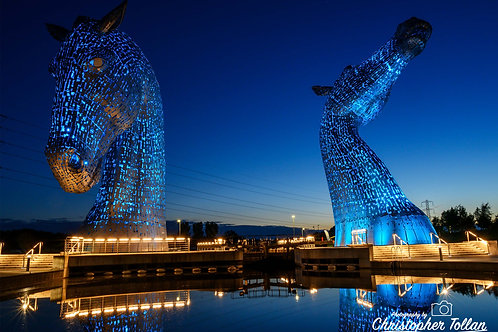 Photo Print - Kelpies at Night